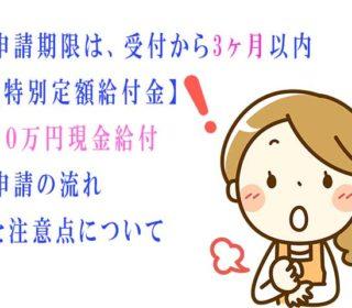 申請期限は、受付から3ヶ月以内【特別定額給付金】10万円現金給付、申請の流れと注意点について