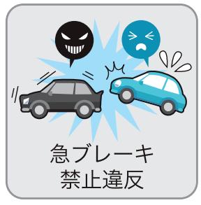 急ブレーキをかける(急ブレーキ禁止違反)